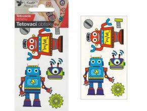 Tetovací obtisky 10,5x6 cm- roboti , 1105