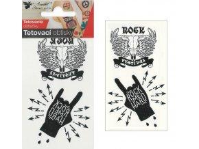 Tetovací obtisky 10,5x6 cm- Rock , 1111 - 2 POSLEDNÍ KUSY -
