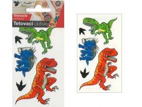 Tetovací obtisky 10,5x6 cm- velcí dinosauři , 1107
