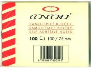 Samolepici bločky Concorde 75 x 102mm 100listů