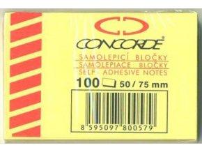 Samolepici bločky Concorde 50x75 100 listů