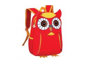 Batoh neoprenový - dětský sovička červená