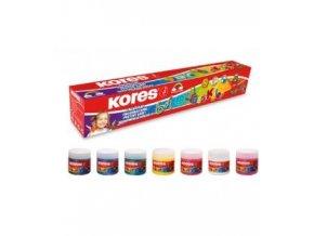 Prstové barvy Dedi Kolor Kores 7x30 ml, 7 barev