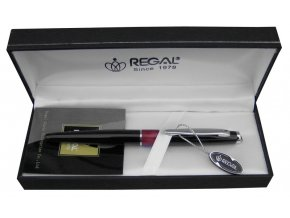 Kuličkové pero Mercurius Černá, Stříbrná REGAL