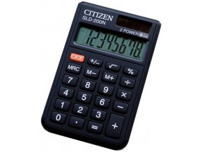 Kalkulačka CITIZEN SLD-200N, kapesní, 8 digit, cover, dual power