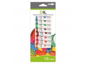 Barvy olejové 12ml x 12 ks JUNIOR