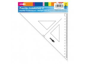 pravitko trojuhelnik s ryskou 16cm
