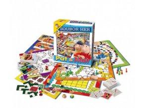 Soubor her Pat a Mat společenská hra v krabici 31,5x36,5x7,5cm