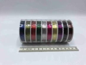 Drátek - barevný - 0,4 mm x 10 m - 10 ks