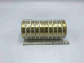 Drátek - zlatý - 0,4 mm x 10 m - 10 ks