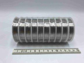 Drátek - stříbrný - 0,4 mm x 10 m - 10 ks