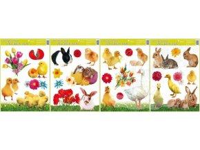 Okenní fólie velikonoční živá kuřátka 42x30cm 793