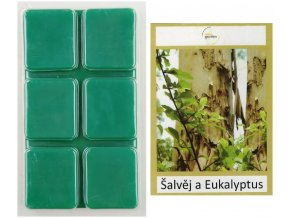 Vonný vosk ŠALVĚJ A EUKALIPTUS do aroma lampy, 64 g
