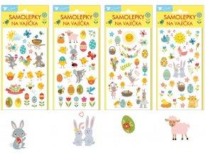 Samolepky velikonoční gelové Veselé Velikonoce 839 , 19 x 9cm