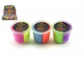 Sliz - Hmota skákací v kelímku 7x5cm asst 3 barvy 12ks v boxu