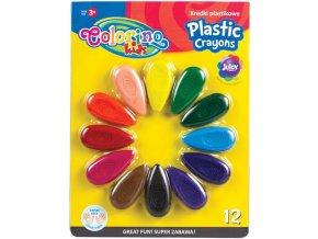 Voskovky plastové 12 barev Colorino