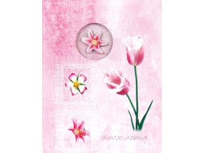 Fotoalbum 9x13/100foto MM-35100(CA) Window flowers růžový - 2 POSLEDNÍ KUSY -