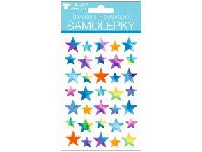 Samolepky hvězdy 15 x 10 cm , 15023