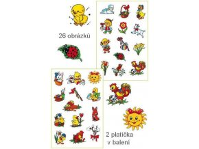 Velikonoční obtisky vodové - 2 platíčka 12x8cm 26 obrázků 775