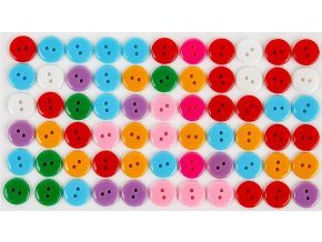 Knoflíky samolepicí barevné 66 ks