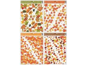 Okenní fólie rohová 42x30 cm, podzimní listí 976