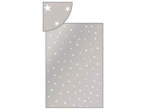 Sáček stříbrný s bílými hvězdičkami 16x25cm 100ks 13503