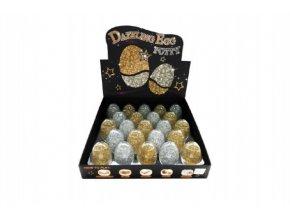 Sliz - hmota vejce třpytivé glitter 7cm asst 2 barvy 23ks v boxu