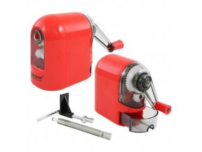 Ořezávátko stolní - mechanické červené