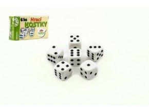 Hrací kostky 13x13mm společenská hra 6ks v krabičce 9x5x2cm
