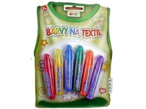 Základní barvy na textil- na blistru 6ks