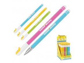 Gumovací pero M&G iErase Hello Ducky 0.5 mm, přepisovatelný, modrý