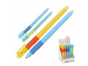 Gumovací pero M&G iErase / Ergo 0,5 mm, přepisovatelný, modrý
