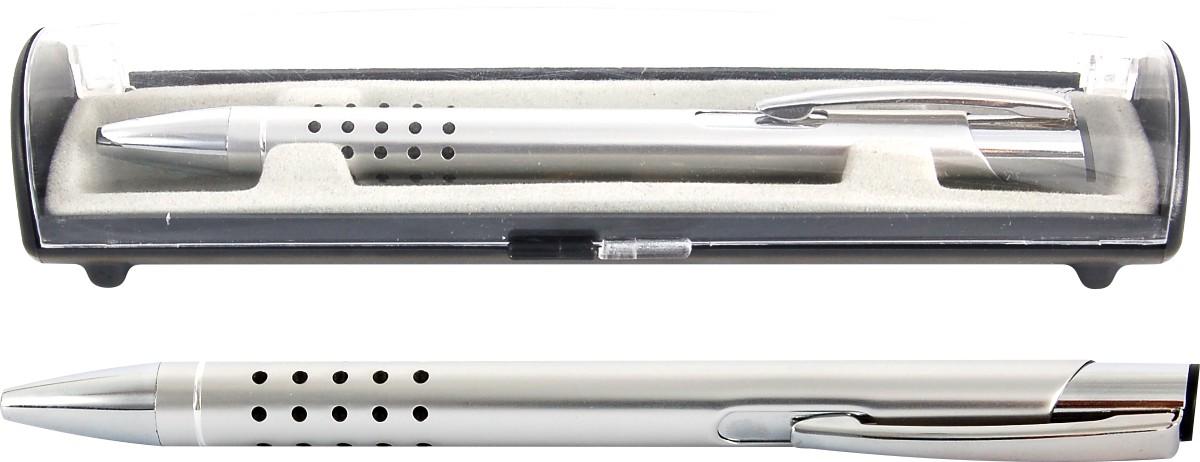 Psací souprava Veno rubber kuličkové pero stříbrná