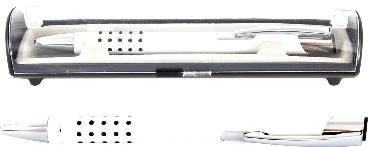 Psací souprava Veno rubber kuličkové pero bílá