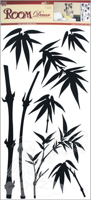 Samolepky na zeď bambus černý 545, 69x32cm