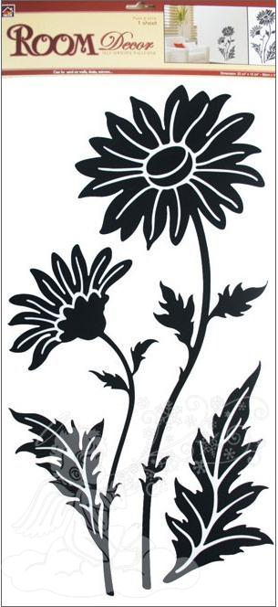 Samolpky na zeď kopretina černá 547, 69x32 cm