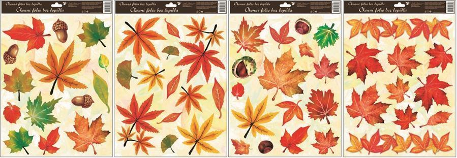 Okenní fólie podzimní listí 872, 42x30cm Okenní fólie: TYP - 2