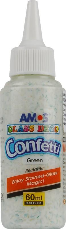 Barvy na sklo 60 ml s konfetami jednotlivě 5 odstínů Barva: Zelená
