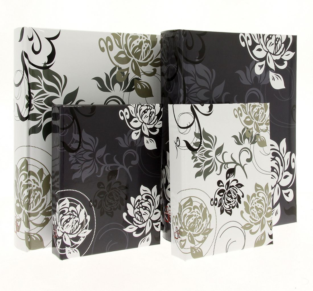 Fotoalbum 10x15/36foto DPH4636 Black & White tmavý