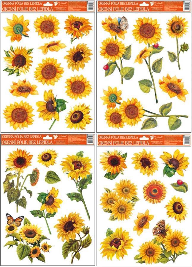 Fólie na okna slunečnice 888, 42x30cm Typ: 1
