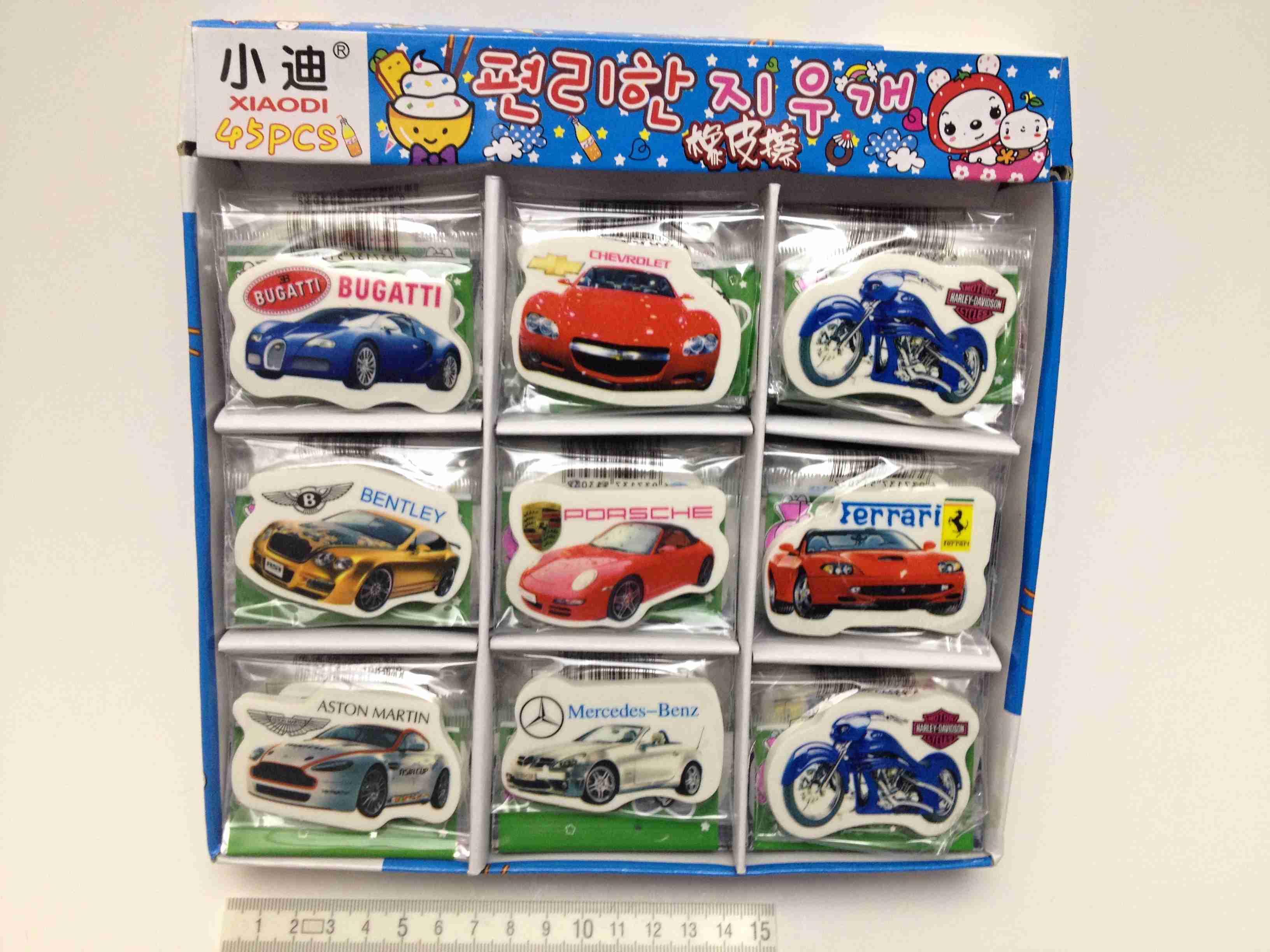 Školní guma auta