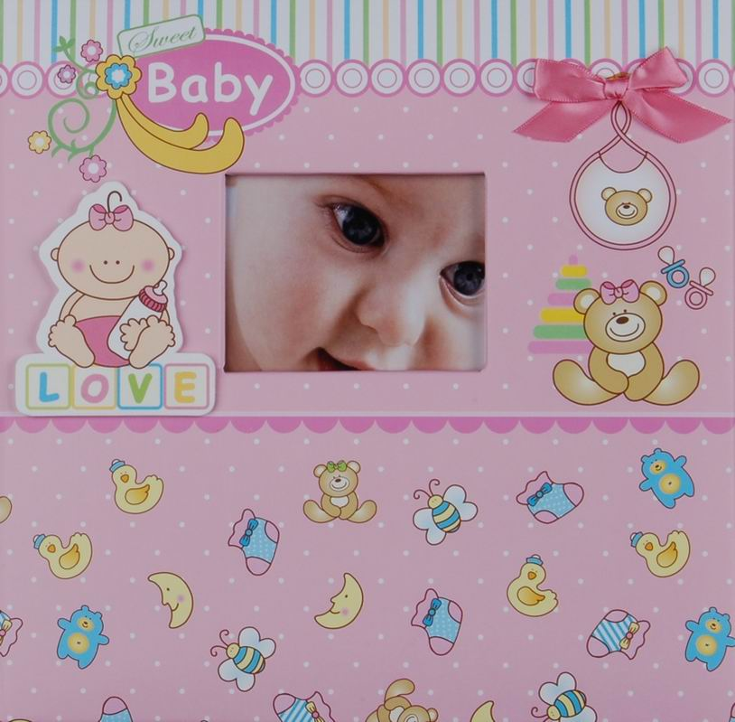 Fotoalbum 10x15/200foto Baby 20 růžový