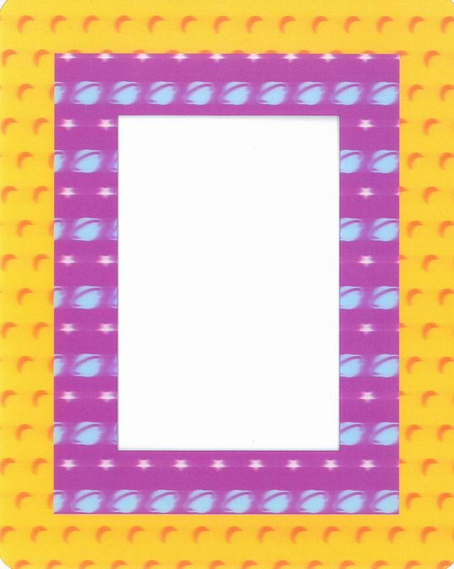Fotorámeček 10x15 3D samolepicí 4 žlutofialový