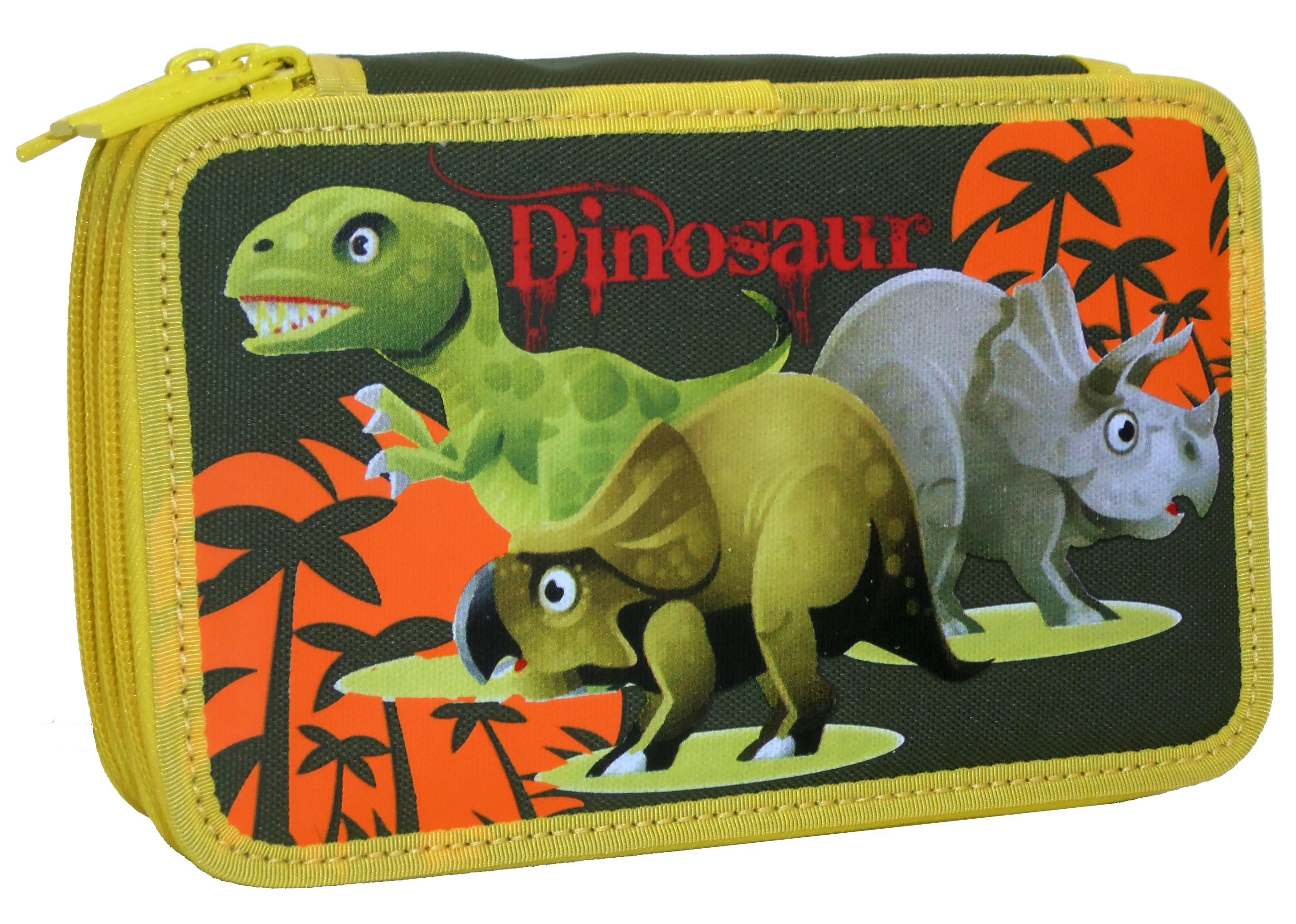 Penál 3 patrový Dino 2