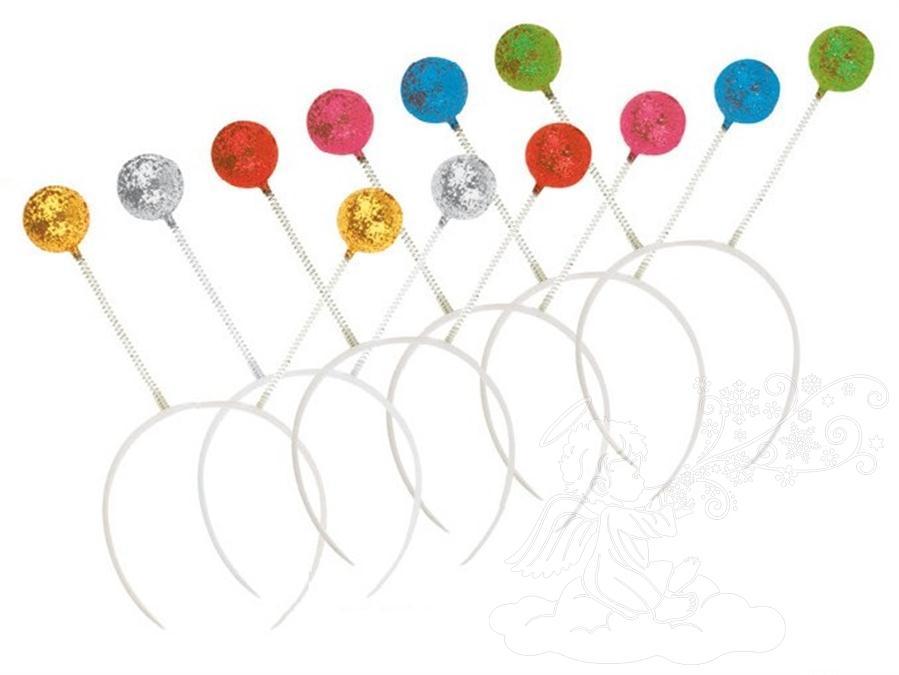 Čelenka-tykadla, mix barev 5856 Čelenka tykadla: 1. STŘÍBRNÁ