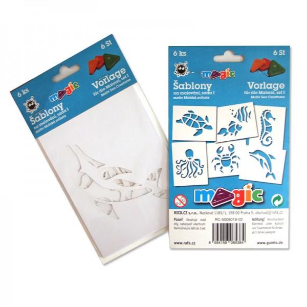Papírové šablony MAGIC sada I - Mořská zvířata