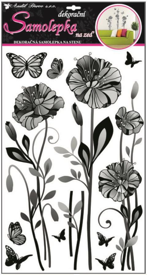 Samolepky na zeď jemné květy 10086 , 60x32cm