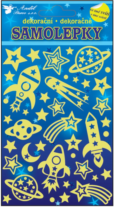 Samolepky svítící ve tmě vesmírné lodě 10105 , 21x13cm