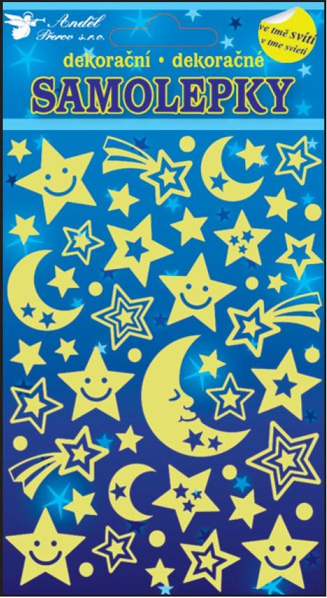 Samolepky svítící ve tmě noční obloha 10103 , 21x13cm