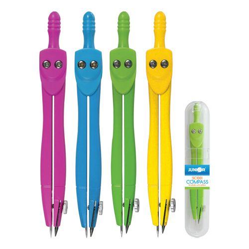 Kružítko školní SC01001C barevné - pevné Barva: Modrá